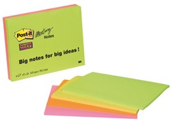 Memoblok 3M Post-it 6445-4SS Super Sticky 149x98.4mm assorti
