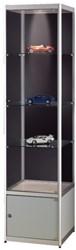 Vitrinekast SDB MPC400-tech 500x500x2000mm grijs