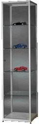 Vitrinekast SDB WMS 500x500x1984mm grijs