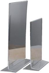 Tafelstandaard Opus2 A4 staand glashelder