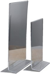 Tafelstandaard Opus2 A6 staand glashelder