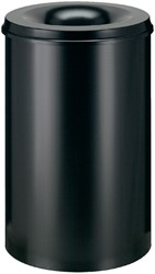 Papierbak met vlamdover Vepabins 110liter 45cm zwart