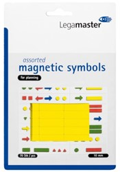 Magneet Legamaster symbolen 10mm geel assorti