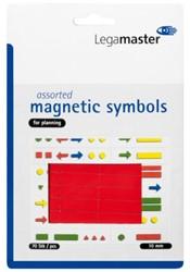 Magneet Legamaster symbolen 10mm rood assorti