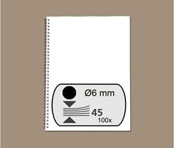 Draadrug Fellowes 6mm 34-rings A4 zwart 100stuks