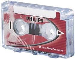 Cassette dicteer Philips LFH 0005 2c15min met clip