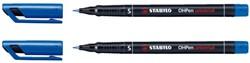 Viltstift Stabilo OHP 841/41 rond blauw 0.4mm