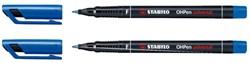 Viltstift Stabilo OHP 842/41 rond blauw 0.7mm
