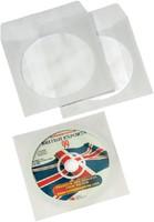 Cd/dvd hoes Fellowes met klep wit-1