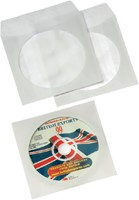 Cd/dvd hoes Quantore met venster wit-3