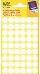 Etiket Avery Zweckform 3145 rond 12mm 270stuks