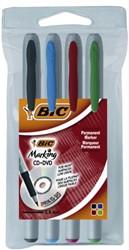 Cd marker Bic assorti zeer fijn 0.6mm etui à 4st