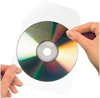 Cd/dvd Hoes 3L 127x127mm met klep zelfklevend transparant-2