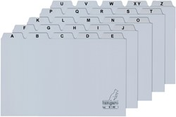 Alfabet HF2 74x105mm PP grijs