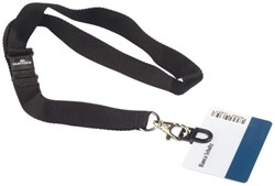 Textielkoord Durable 8187 met card fix zwart