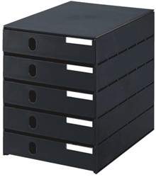Ladenbox Styroval 5 laden zwart gesloten