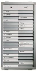 Aan-afwezigheidsbord Legamaster 31x28cm 10 posities