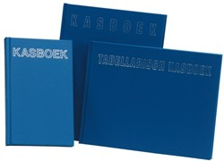 Kasboek 210x160mm 96blz 12 kolommen blauw