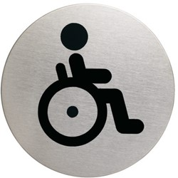 Infobord pictogram Durable 4906 wc invalde rond 83Mm