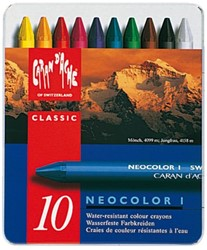 Waskrijt Caran d'Ache neocolor-I 10stuks assorti