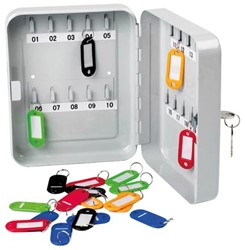 Perel sleutelkastje voor 20 sleutels - 16 x 20 x 60 cm - met 20 sleutelhangers