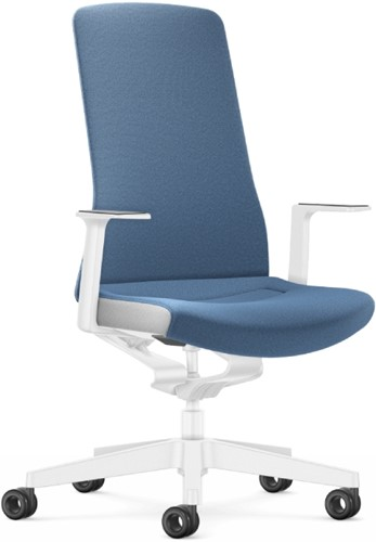 Bureaustoel Interstuhl Pure Interior Edition - gestoffeerd - azuurblauw