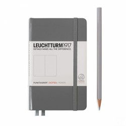 Leuchtturm1917 Notitieboek Antraciet - Pocket - Puntjes