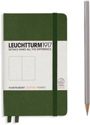 Leuchtturm1917 Notitieboek Army - Pocket - Puntjes