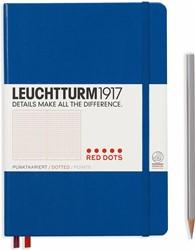 Leuchtturm 1917 A5 Medium Notitieboek red dots Royal Blue