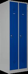 Garderobekast 2-delig, 1-hoog ( 2 vakken )