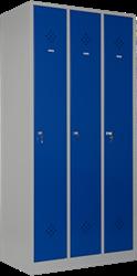 Garderobekast 3-delig 1-hoog ( 3 vakken )