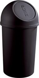 Afvalbak Helit push deksel 45 liter zwart