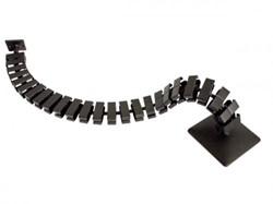 Kabelslang 130 cm t.b.v. zit/sta werkplek incl. 2 magneten, kunststof in de  kleur aluminium