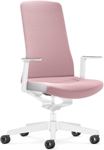 Bureaustoel Interstuhl Pure Interior Edition - gestoffeerd - lichtroze