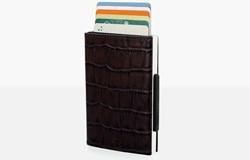 Ogon Designs Cascade Wallet Uitschuifbare RFID Cardprotector Croco leer
