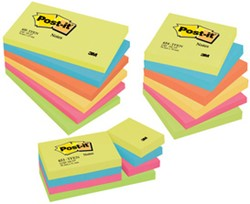 MEMOBLAADJES POST-IT 654TFEN 76X76MM, 6 STUKS