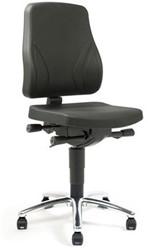 Werkstoel Se7en Industry 9633 PUR zwart zitting en rug