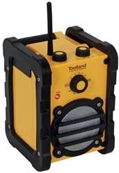 Toolland Robuuste AM / FM bouwradio inclusief netadapter - 7 W - IP44