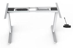 Elektrisch verstelbaar zit-sta frame wit